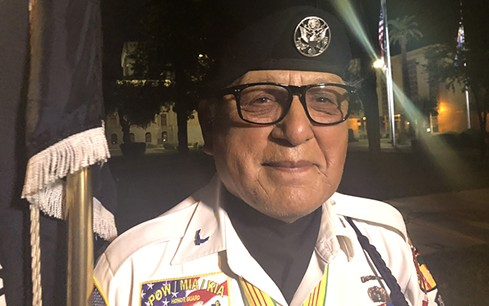 """David Carrasco, an Air Force veteran who served two tours in Vietnam, went to the state Capitol soon after he learned fellow veteran John McCain had died. """"The bond that the Vietnam veterans have is a very unique bond,"""" he said. - TAYLOR ROCHA/CRONKITE NEWS"""