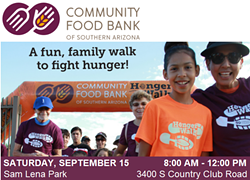 The Community Food Bank of Southern Arizona is hosting a HungerWalk on Sept. 15 at Sam Lena Park at Kino Complex. - SHOWVALUE EVENT MEASUREMENT