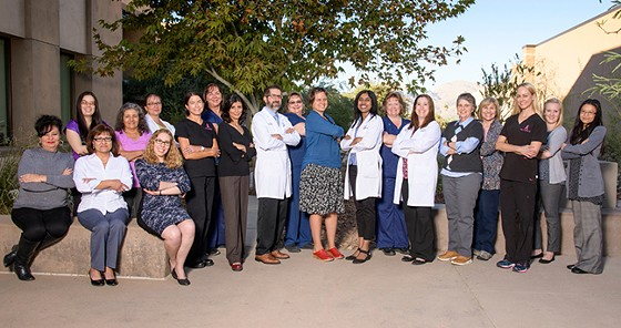 The University of Arizona Cancer Center's multidisciplinary breast team is committed to supporting patients through all stages of cancer. - KRIS HANNING