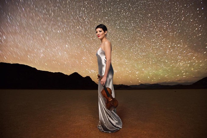 Violinist Anne Akiko Meyers with Tucson Symphony Orchestra - COURTESY PHOTO