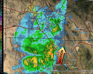 Live radar as of 10 a.m. - NATIONAL WEATHER SERVICE TUCSON