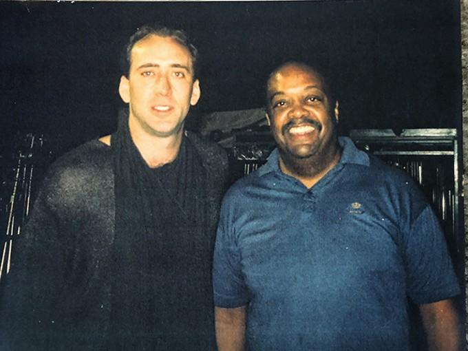 Nicolas Cage and Folk, 1998. - COURTESY PHOTO