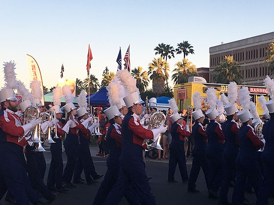 Parade before the football game at Family Weekend 2017 - TIRION MORRIS