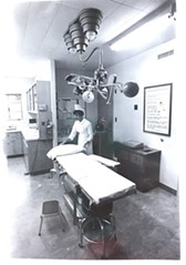 An exam room at UA Campus Health in 1971 - COURTESY OF SPECIAL COLLECTIONS, UNIVERSITY LIBRARIES.
