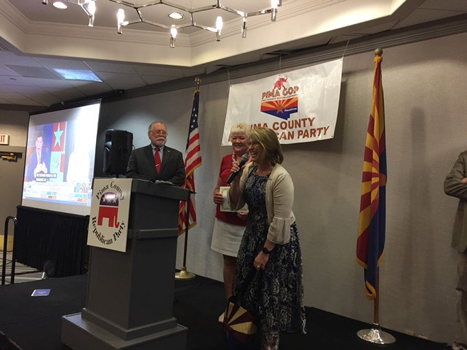 Ana Henderson at the Pima County Republican Party. - DANYELLE KHMARA