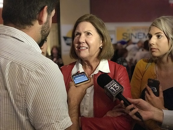 Democrat Ann Kirkpatrick won big in Congressional District 2; she'll replace Republican Martha McSally. - JIM NINTZEL