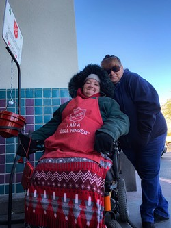 Susan Moss and her caregiver, Rosa. - BRIAN SMITH