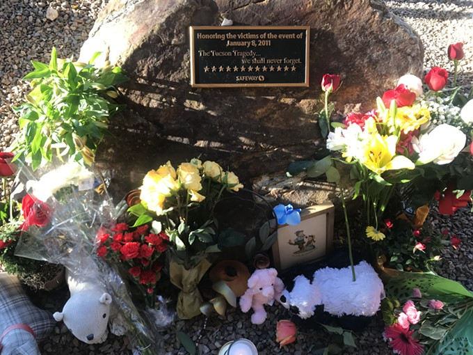 The memorial at the site of the shooting was filled with flowers and messages today, Jan. 8, 2019. - KATHLEEN B. KUNZ