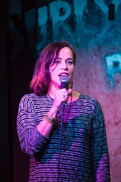 "Roxy Merrari says it never occurred to her to try doing stand-up, ""but it never occurred to me not to do it once I started doing it. I'm addicted to laughter."" - NICCI RADHE"