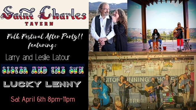 COURTESY OF FOLK FESTIVAL AFTER PARTY AT SAINT CHARLES TAVERN WITH 3 BANDS! FACEBOOK EVENT PAGE