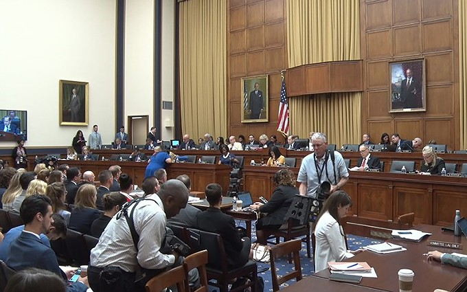 The nearly four-hour House Judiciary Committee hearing on family separations and conditions at migrant detention facilities brought lawmakers, officials from five different agencies, and a full house of spectators. - PHOTO BY JULIAN PARAS, CRONKITE NEWS