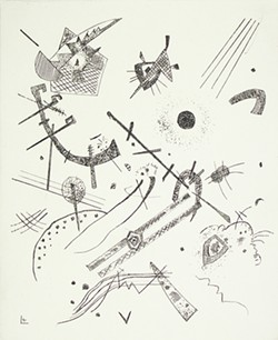 """""""Kleine Welten XI(Small Worlds XI),"""" 1922, drypoint, by Wassily Kandinsky,is on exhibit as part of A New Unity: The Life and Afterlife of Bauhaus, opening Aug. 31 at the University of Arizona Museum of Art."""