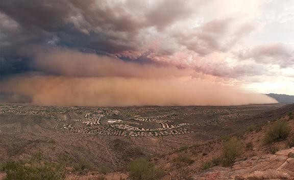 A dust storm over the Phoenix area. - ALAN STARK ON FLICKR