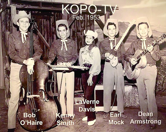 Dean Armstrong and The Arizona Dance Hands with LaVerne and Kenny Smith singing on KOLD-TV, circa 1953.