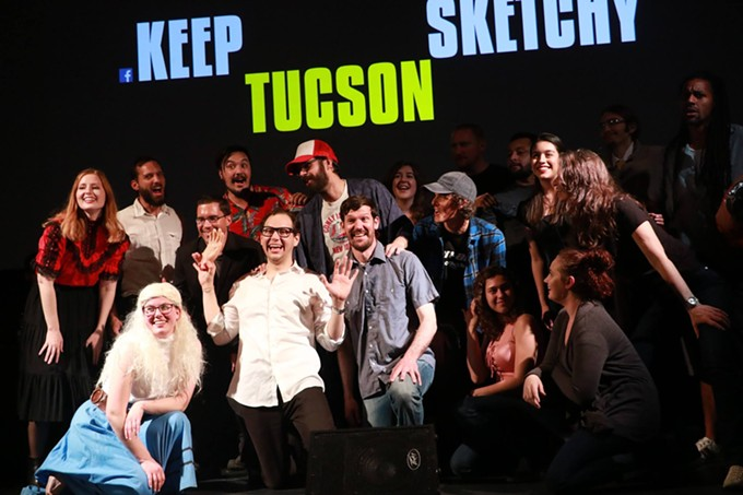 The cast of Keep Tucson Sketchy brings a fourth SNL parody show to the Screening Room November 30. - CLAYTON BRAASCH