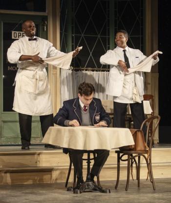 Odera Adimorah as Willie, Ian Eaton as Sam, and Oliver Prose as Hally (front). - PHOTO COURTESY OF ARIZONA THEATRE COMPANY.