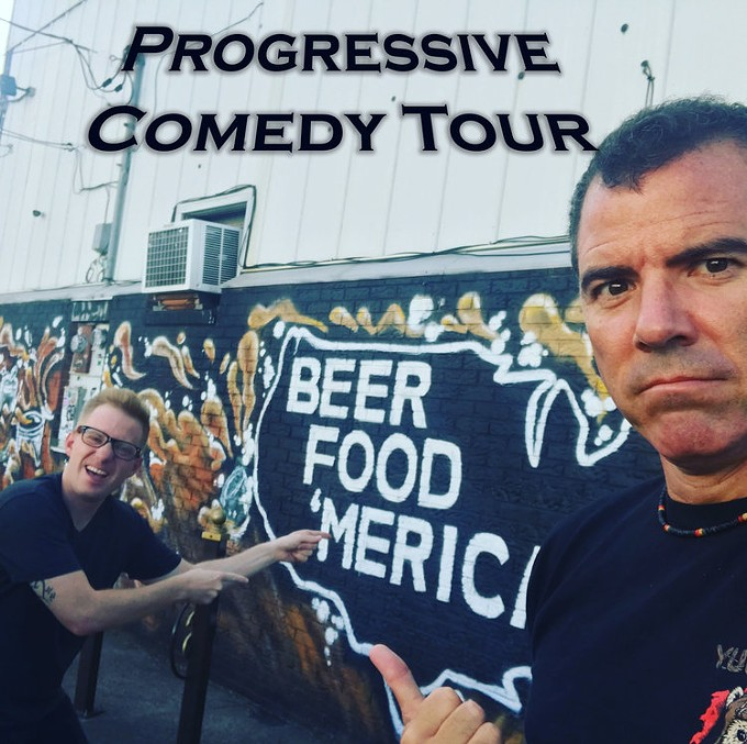 Incredibly, Graham Elwood and Ron Placone make people laugh while mobilizing them to tackle the social lockdown of contemporary politics. - RONPLACONE.COM