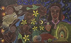 The work of Oaxacan artist Enrique Flores will be on display at the Bernal Gallery at the Pima Community College West Campus. - COURTESY PHOTO