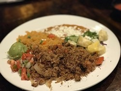 The famous carne seca plate at El Charro, which is among the businesses that benefit if you buy a Downtown Tucson Partnership gift card tomorrow. - TW FILE PHOTO
