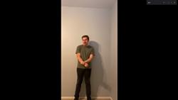 Marana High School senior Matthew Glasshoff performing his sonnet. - YOUTUBE