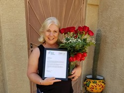 Twin Peaks K-8 School teacher Monica Baden was among the educators recognized by Tucson Values Teacher with the Teacher Excellence Award this month. - COURTESY PHOTO