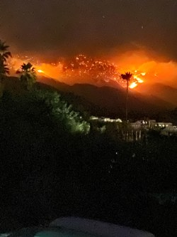 Bighorn fire from our home. - BRIAN SMITH
