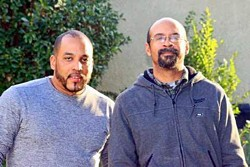 Neko Wilson's family has been actively campaigning to have him released so he can be isolated at home. His brother, Jacque, right, has been actively involved in the legal battles. (Photo courtesy of the Wilson family)