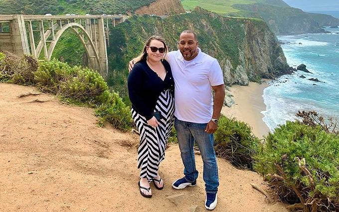 Neko Wilson poses with his fiancee, Cassandra, in California. (Photo courtesy of the Wilson family)