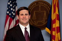 """""""I want to emphasize Arizona's most important partner in this fight is you, the people of Arizona,"""" Gov. Ducey said during Monday's press conference. - COURTESY OF AZTREASURY.GOV"""