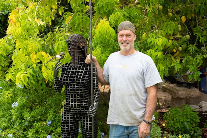 Artist John Benedict—pictured with Angelica—will be on hand to meet with guests on Friday, Sept. 4 and Saturday, Sept. 12 at Hacienda del Sol Guest Ranch Resort from 6:30 p.m. until 8 p.m. - HACINDA DEL SOL
