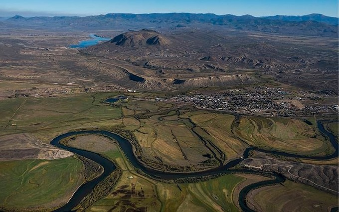 The Colorado River Basin is about to enter its 21st year of sustained dry conditions. This is an aerial view near Kremmling, Colorado, in 2018. - PHOTO COURTESY OF NICK COTE/KUNC