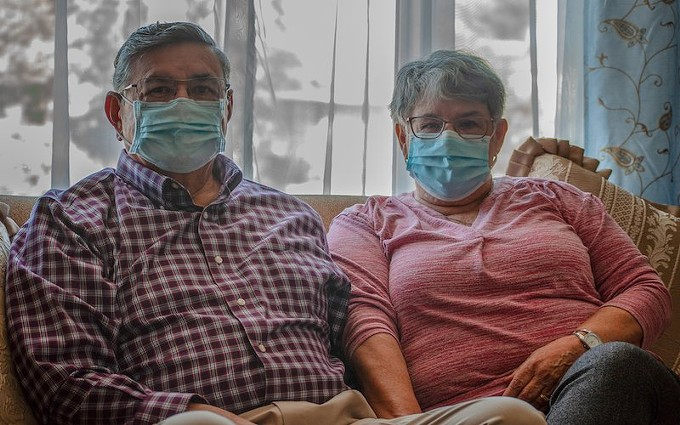 Lupe and Saul Solis, who were recently inoculated, relax in their Chandler home on Feb. 17. Seniors make up more than half of the people in the state who have received at least the first vaccine dose. - KIERSTEN MOSS/CRONKITE NEWS