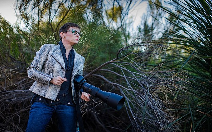 Since the pandemic hit the country and businesses struggled to retain customers, Miachelle DePiano also witnessed a decline of clients at her photography business. When the state went into lockdown in March 2020 she began photographing birds at the Riparian Preserve at Water Ranch in Gilbert, Ariz. - ALBERTO MARIANI/CRONKITE NEWS