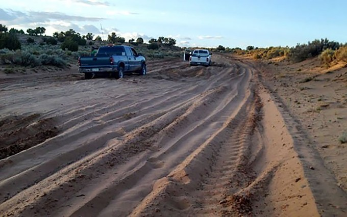 Many of the roads in tribal areas, like the Navajo Nation, are unpaved and become unpassable during bad weather. - NAVAJO COUNTY PUBLIC WORKS DEPARTMENT