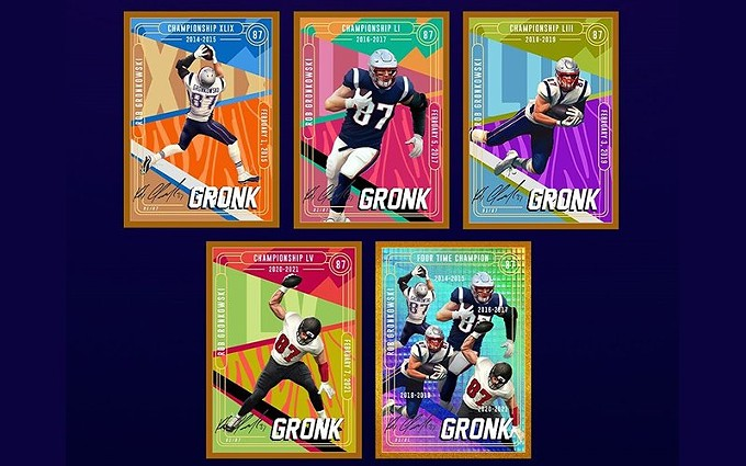 Former University of Arizona tight end Rob Gronkowski, now with the Tampa Bay Buccaneers, partnered with Medium Rare for an NFT card collection. - COURTESY GRONKNFT.COM