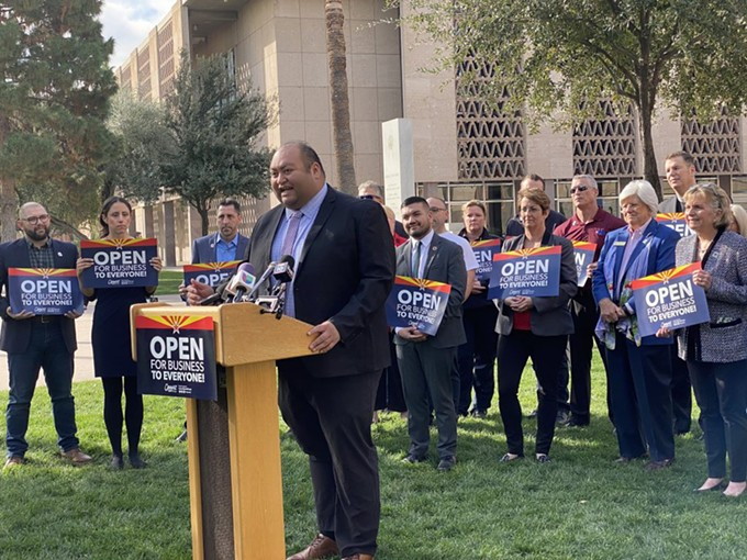"""Daniel Hernandez: """"Gabby Giffords continues to inspire me and I strive to follow her example of service for our community."""" - COURTESY DANIEL HERNANDEZ FOR CONGRESS"""