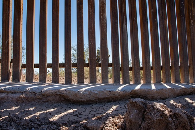 Rijk Morawe, the chief of natural and cultural resources management at Organ Pipe Cactus National Monument, is worried about the erosion he's already seeing along the border wall and all-season access road. - ISAAC STONE SIMONELLI/CRONKITE BORDERLANDS PROJECT