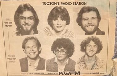 Newspaper print ad pimping KWFM crew circa '80-81. - BRIAN SMITH