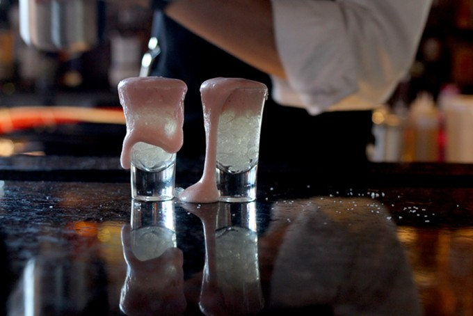 Elbulli Bubbles Prickly Pear Margarita is unlike any tequila shot you've had before. - HEATHER HOCH