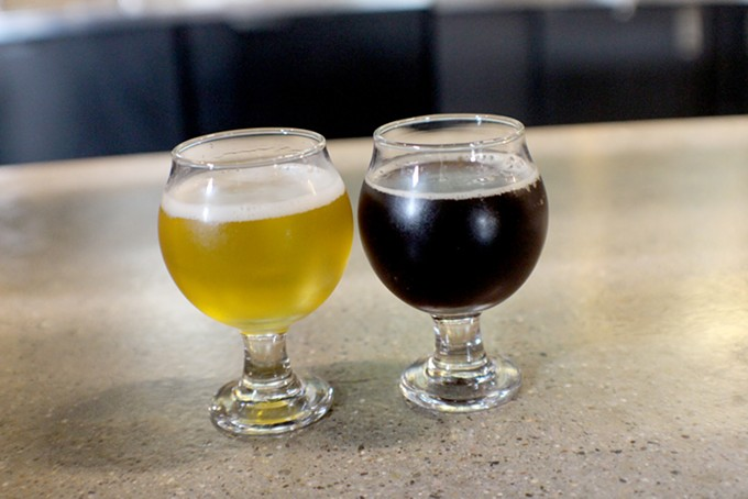 The saison and saison noir manipulate yeast for flavor at Public Brewhouse. - HEATHER HOCH