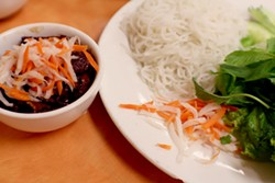 Bun cha Ha Noi done right and simply at Thuan Kieu. - HEATHER HOCH