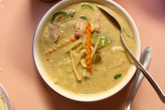 Aromatic green curry from Karuna's will satisfy your itch for Thai food. - HEATHER HOCH