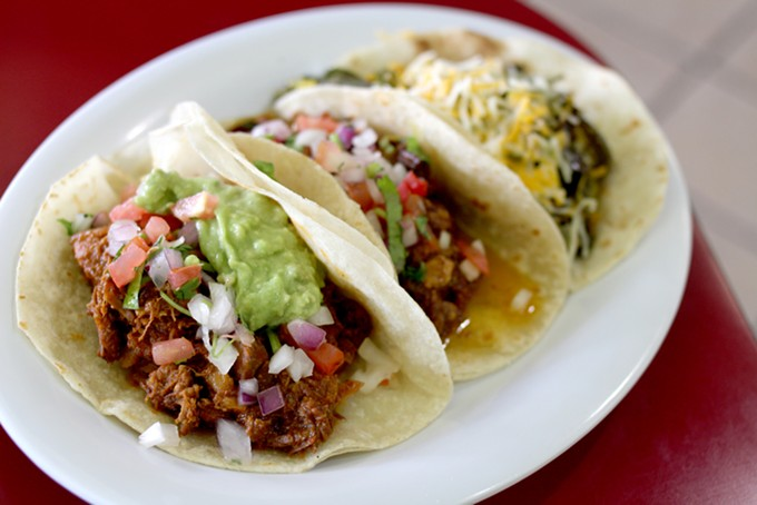 Of course, the tacos are also mighty tasty at Taqueria El Pueblito. - HEATHER HOCH