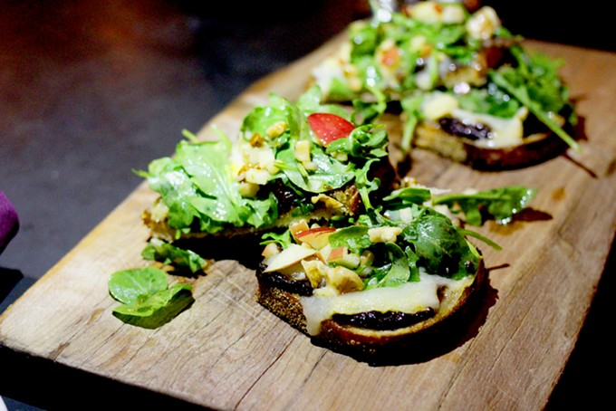 Bruschetta boards come on a base of Bakehouse bread. - HEATHER HOCH