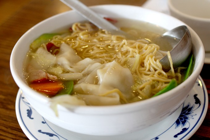 Wontons and noodles make this soup as fun to chew as it is to slurp. - HEATHER HOCH