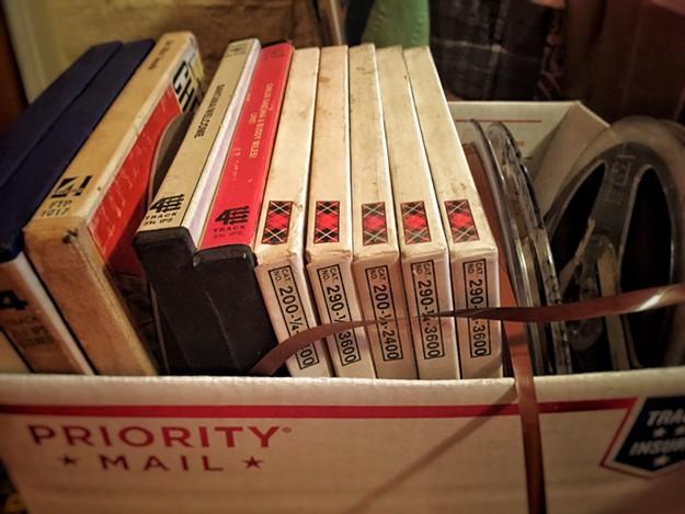 Box of L.S.D. reels.