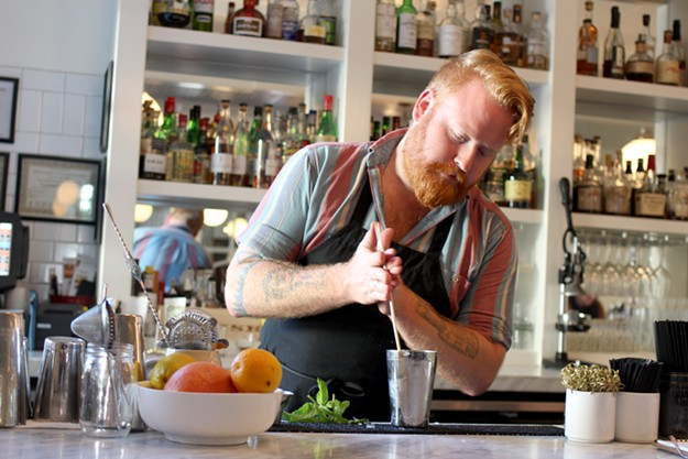 Somewhere between stirring and shaking, the swizzle of a Julep makes it more fun for Ciaran Weise to make. - HEATHER HOCH
