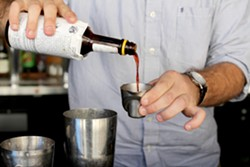 Bitters are typically used in dashes—like salt and pepper is used in food, but Bryan Eichhorst explores the flavors in Angostura with this cocktail. - HEATHER HOCH