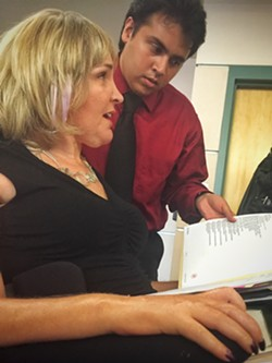 Corinne Schram with her assistant Irving Talavera at Pima County Juvenile Court. - BRIAN SMITH