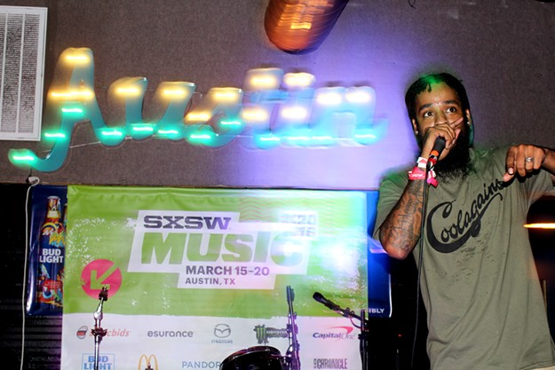Tucson rapper Cash Lansky performed at an official SXSW 2016 showcase. - HEATHER HOCH